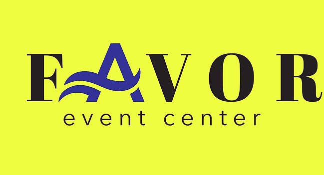 Favor Event Center logo- yellow backgrou