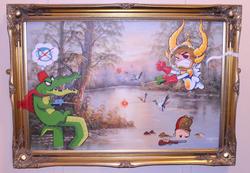 Commission - Monkey v Croc