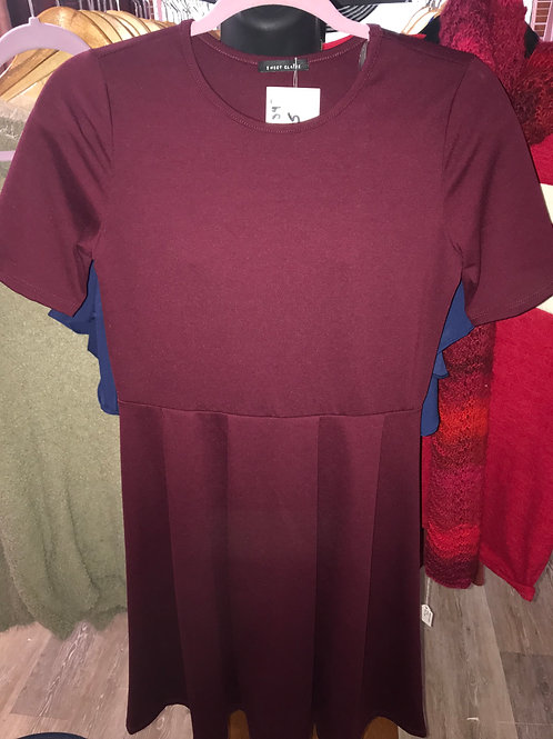 Causal Maroon Dress