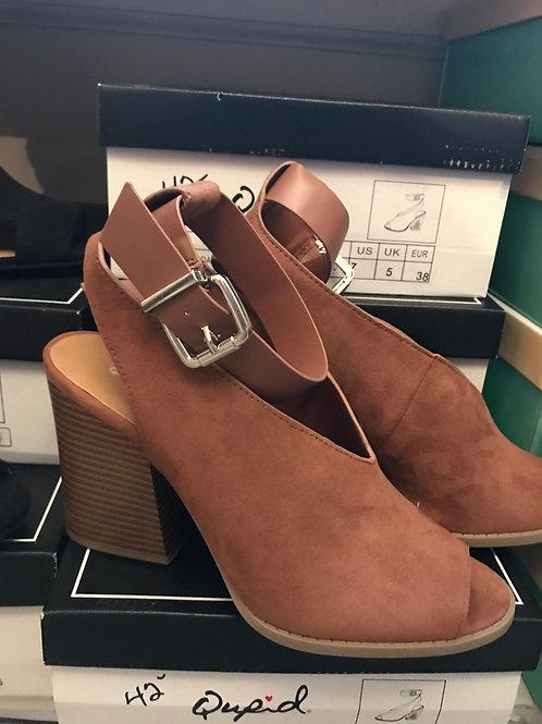 Cinnamon Suede Heels