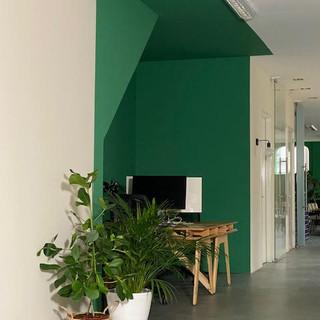 colourblock kantoor groen