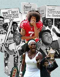 Influential Athletes striking a blow