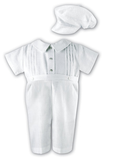 Sarah Louise Boys Christening Suit 002243 Shirt Sleeve White