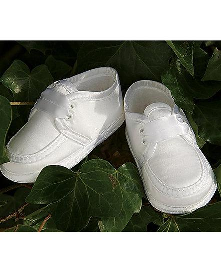 Sarah Louise Boys Christening Shoes 004477 White