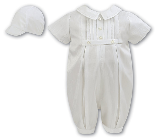 Sarah Louise Boys Christening Suit 002228 Short Sleeve Ivory