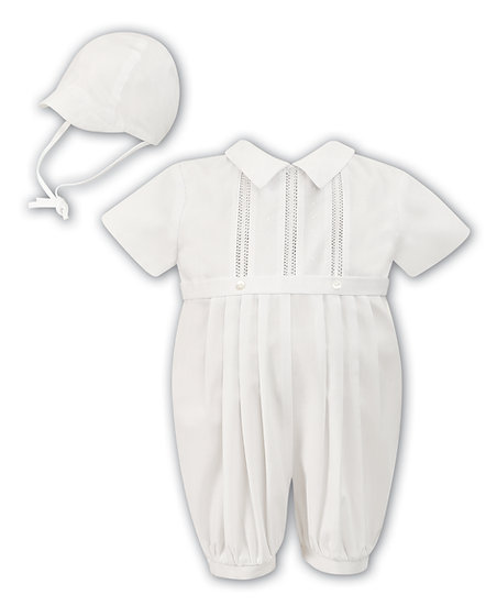 Sarah Louise Boys Christening Suit 002209 Short Sleeve Ivory