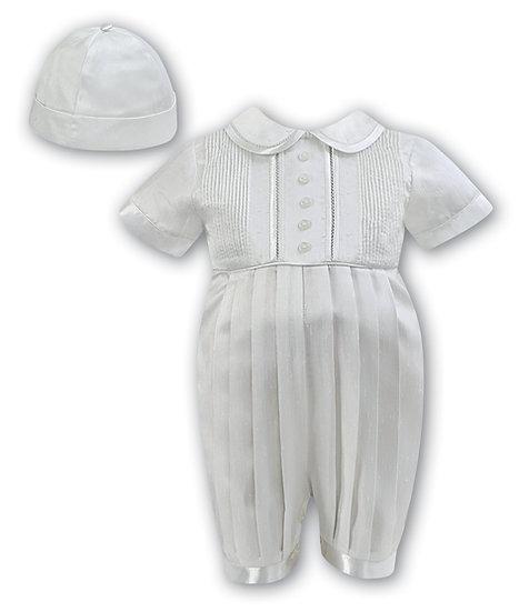 Sarah Louise Boys Christening Suit 002232 Short Sleeve Ivory