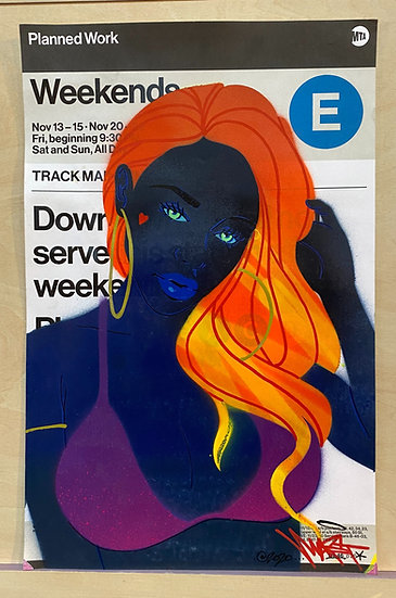 Customized MTA Service Change poster