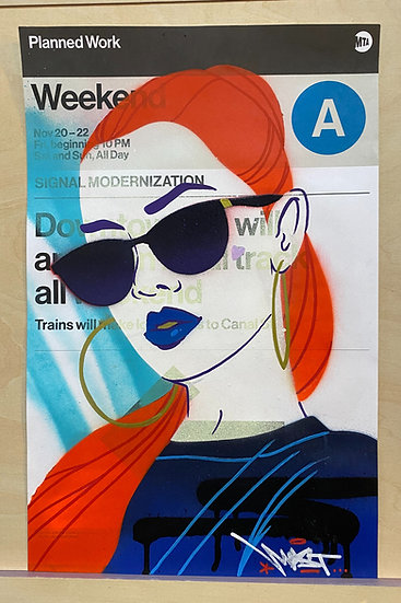 Customized MTA Service Change poster