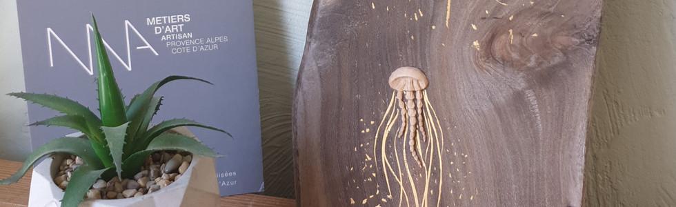 méduses sculpture et dorure