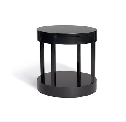 lacquer round end table