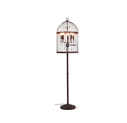Floor Lamp Cage Chandelier