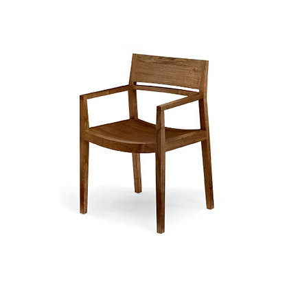 slim wood dining arm chair
