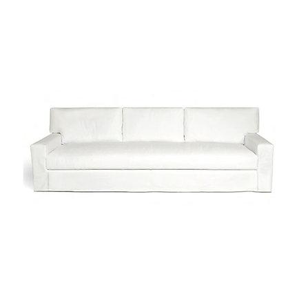 elongated studio sofa