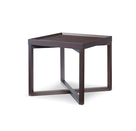 Cleave Wood Top Side Table