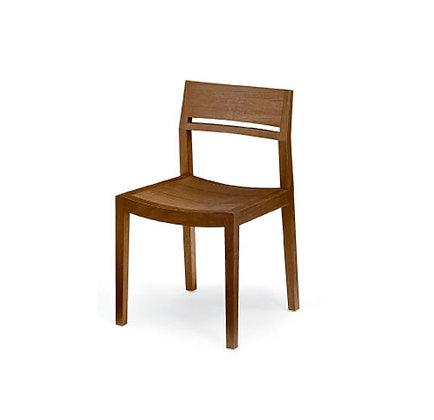 slim wood dining side chair