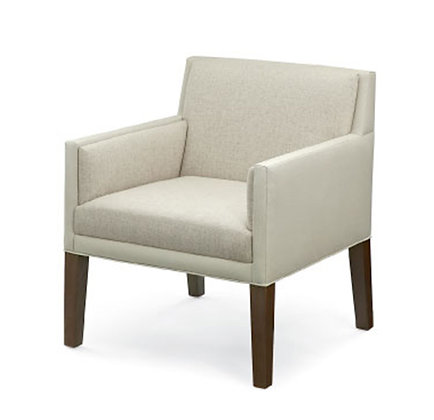 Inset accent chair