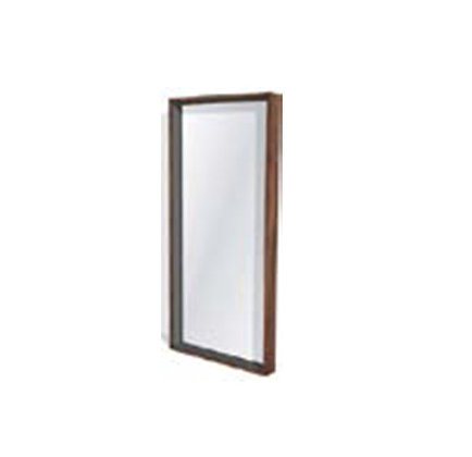 Walnut & Steel Floor Mirror