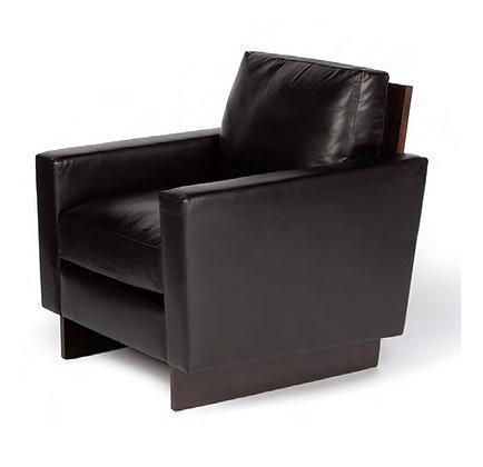 Walnut black lounge chair