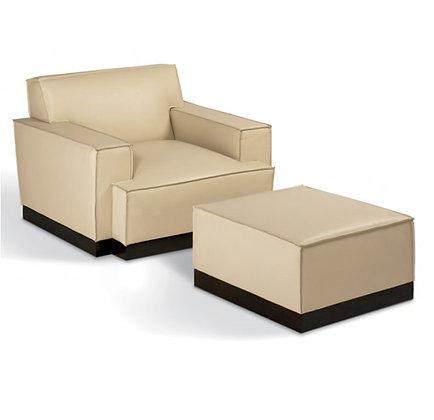 Modern lawson arm chair + ottoman