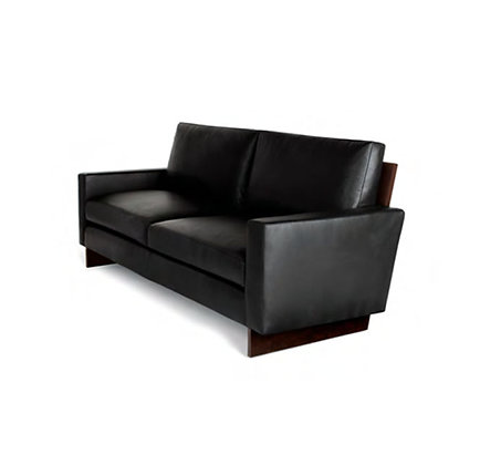 walnut black lounge sofa