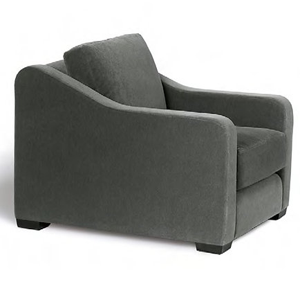 Sloped arm chair