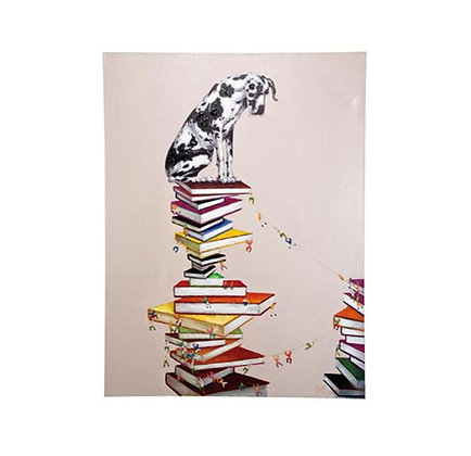 OIL PAINTING DOGS LIBRARY 160X120CM