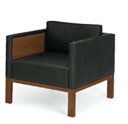 Paneled arm chair