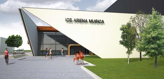 Štúdia haly pre ľadové športy.