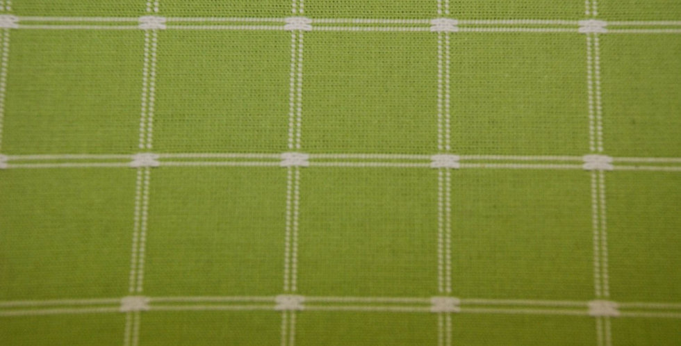 Grass Green Check Fabric