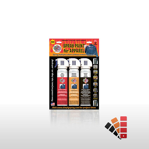 Stencil Paint Kit - Red Flame