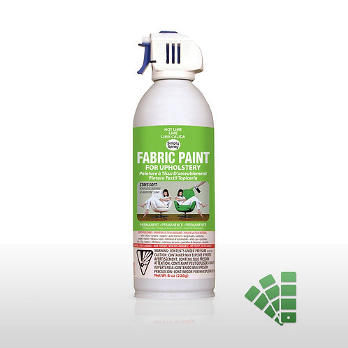 Simply Spray Upholstery Fabric Paint - Hot Lime