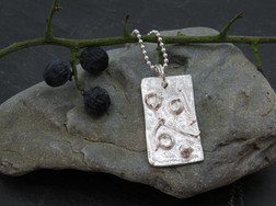 Reticulated with fused silver design