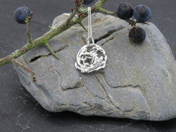 Melted wire abstract pendant
