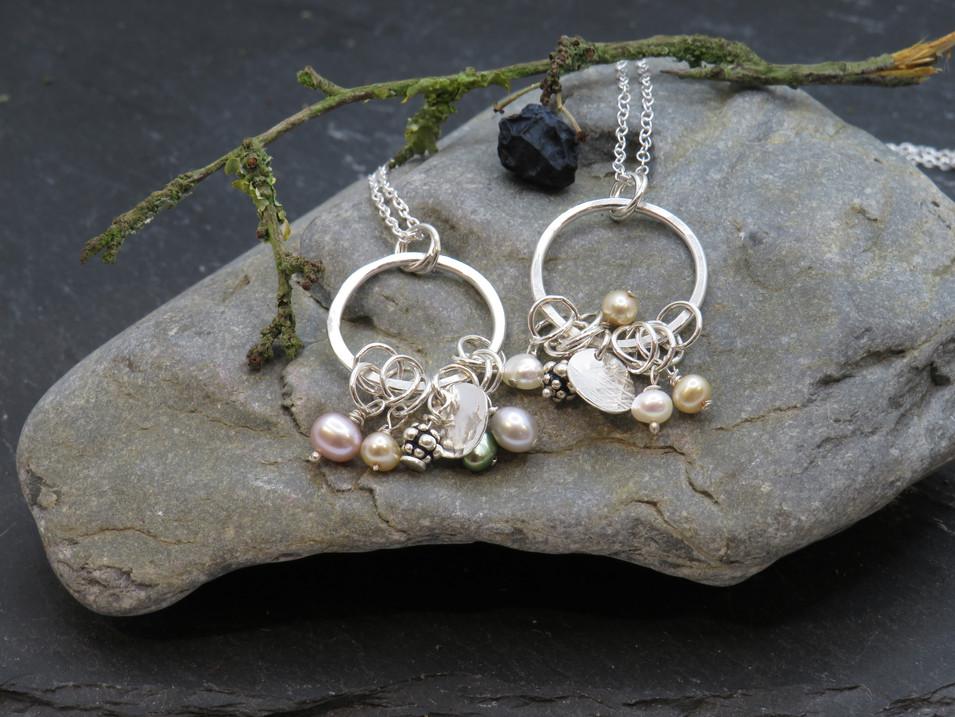 Mini silver and pearl jumbles