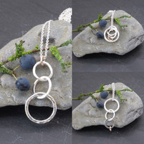 3 x silver links, 1 x 9ct rose gold this can be worn in diffferent ways