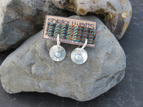 Hammered disc and pearls