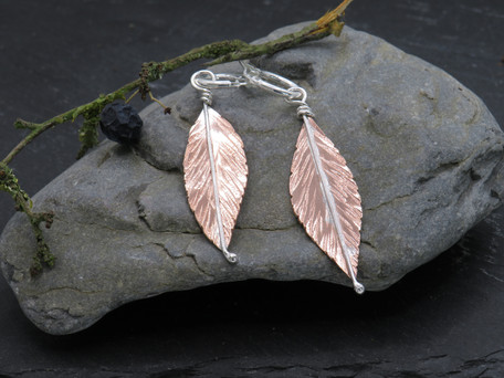 Copper and silver leaves