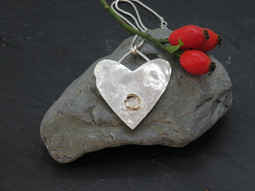 Large Reticulated Heart with Fused Gold detail