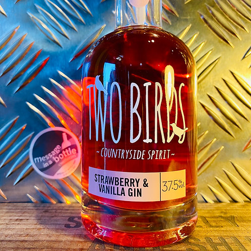 Two Birds - strawberry & vanilla gin : 200ml bottle