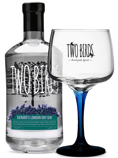 Two Birds Spirits 🇬🇧 Gerard's Cut London Dry Gin Gift Set w/ Copa Glass