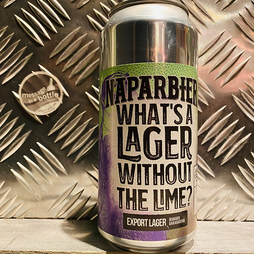 NAPARBIER 🇪🇸 X Track Brewing 🇬🇧 WHAT'S A LAGER WITHOUT LIME? Export Lager