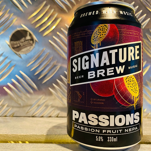 Signature Brew 🇬🇧 PASSIONS : passion fruit nepa / new england pale ale
