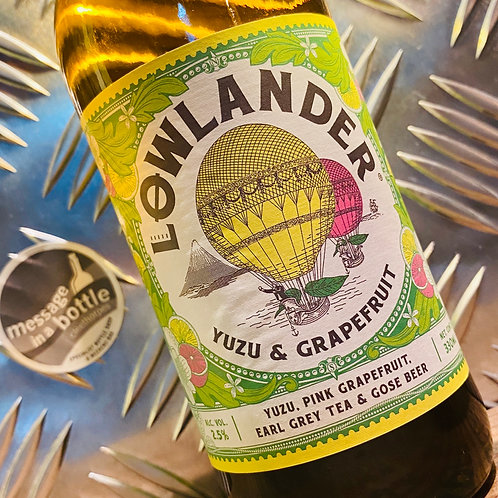 Lowlander Beer Co 🇳🇱 yuzu, pink grapefruit + early grey tea gose / sour beer