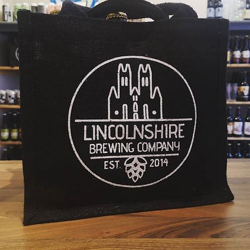 Lincolnshire Brewing Company 🇬🇧 jute branded beer bag