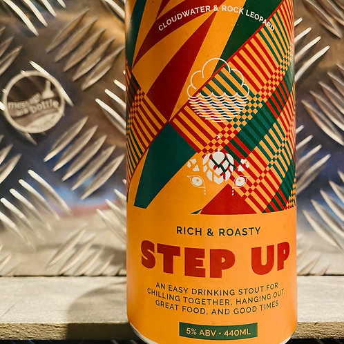 CLOUDWATER X ROCK LEAOPARD 🇬🇧 STEP UP : Rich & Roasty Easy Drinking Stout