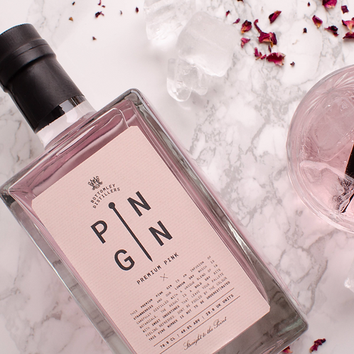PIN GIN - Louth, Lincolnshire 🇬🇧 PREMIUM PINK 🍓 strawberry infused gin