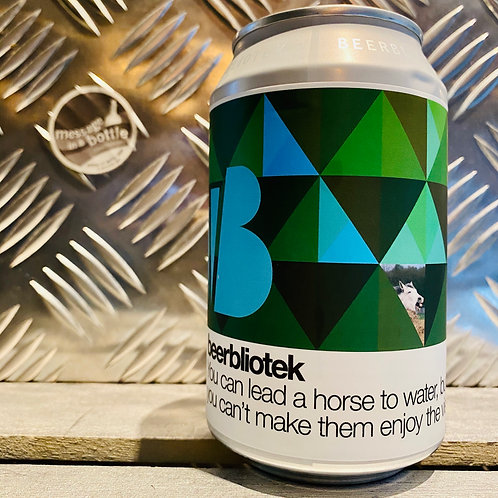BEERBLIOTEK 🇸🇪 YOU CAN LEAD A HORSE TO WATER... NEW ENGLAND DIPA / DOUBLE IPA