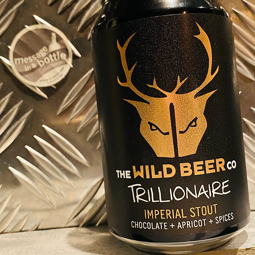 Wild Beer 🇬🇧 TRILLIONAIRE 💰 IMPERIAL STOUT : chocolate + apricot + spices