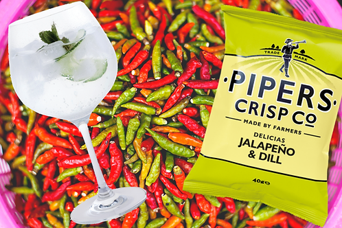 Pipers (Lincolnshire) 🇬🇧 delicias jalapeño & dill crisps : 150g big bag